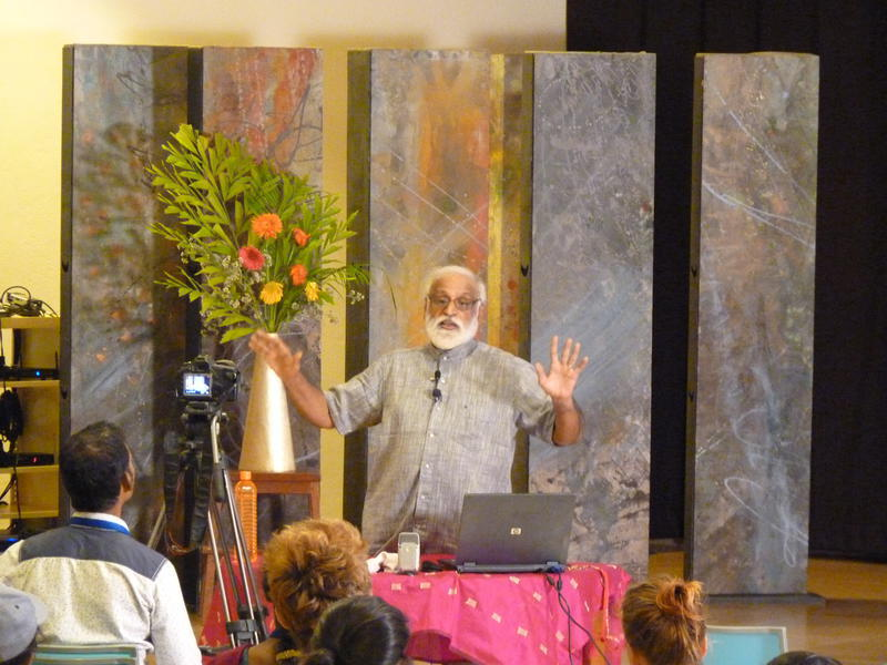 Photographer:Steve | Professor Sehdev Kumar at UP with 3rd lecture Nature vs Nurture