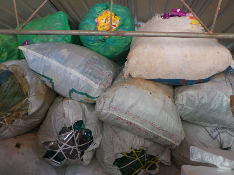 Photographer:Romel-and-Mimansha | ECOSERVICE : bags of waste which cannot be recycled