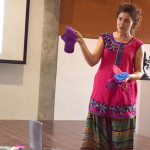 Showing various Eco Femme sanitary pads and how to use them