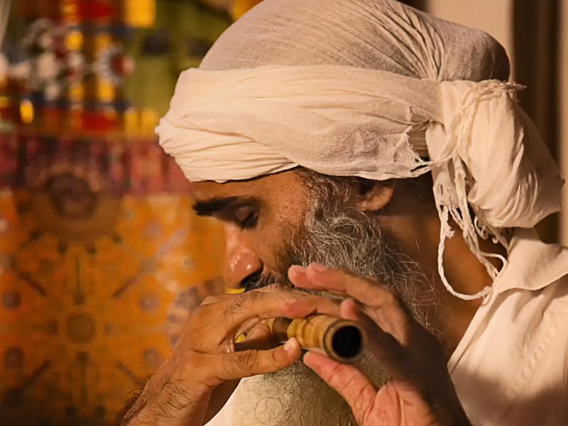 Photographer:Piero Cefaloni   Chandreshi playing flute