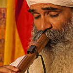Chandreshi playing flute