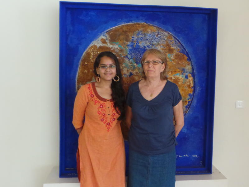 Photographer:Romel | Jaya & Divyanshi on Economy for Auroville