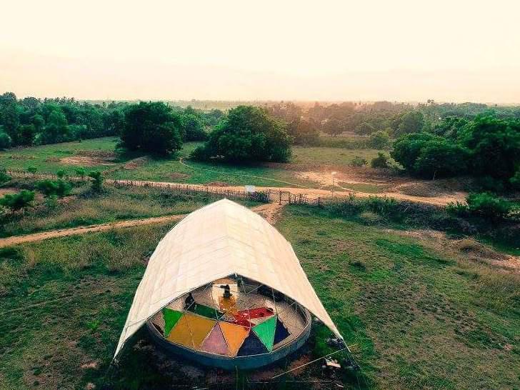 Photographer:Vikram Ram | Aerial photography of Sankalpa Art Center