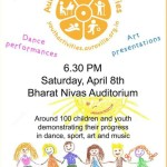 Youth Activities on 8th at 6.30pm at Bharat Nivas