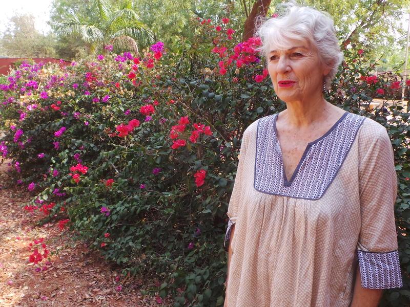 Photographer:Romel | Dominique speaking with Auroville radio