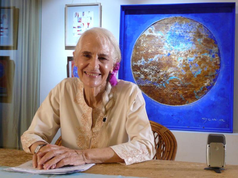 Photographer:. | Loretta Speaking on Sri Aurobindo and Mother