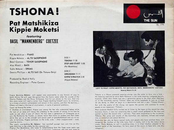 Photographer:web | Pat Matshikiza - Kippie Moeketsi - Tshona!