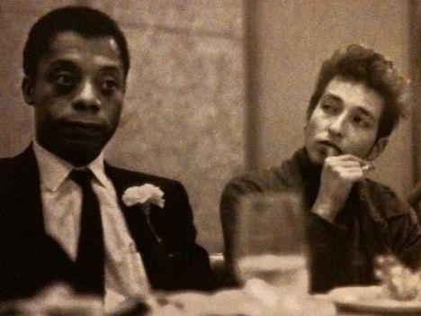 Photographer:web | James Baldwin and Bob Dylan