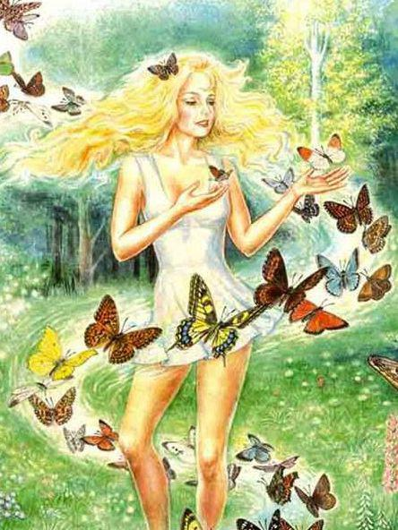 Photographer:Web | Anastaisa with butterflies