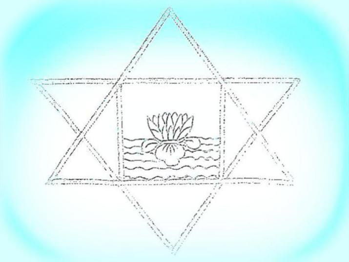 Photographer:web   stylized symbol of Sri Aurobindo