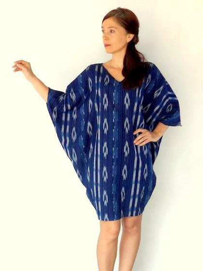 Photographer:manaauroville.wordpress.com   Claire wearing the BREEZE dress in gorgeous shade of indigo blue