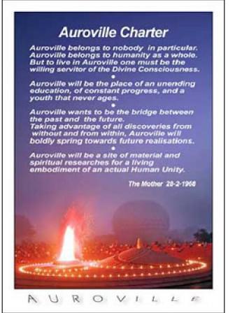 Photographer:web | Auroville charter