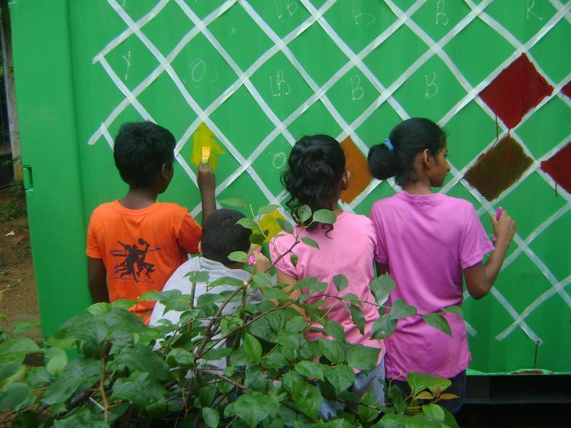 Photographer:D   Children leaving their mark on Auroville