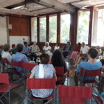 debate on post-humanism with  Makarand R. Paranjape at Sri Aurobindo Centre for Studies