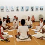 with Dakshina Canting Group at Savitri Bhavan