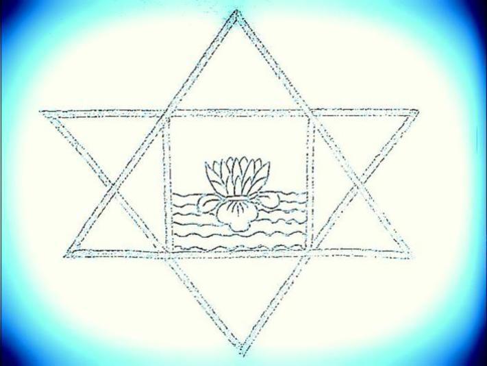 Photographer:web | symbol of Sri Aurobindo (highly stylized)