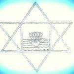 stylized version of Sri Aurobindo's symbol