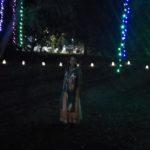 A girl enjoying Deewali