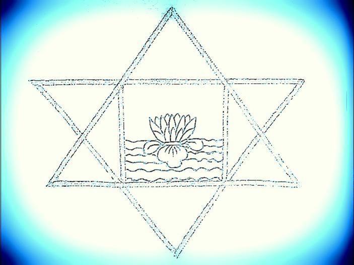 Photographer:web | sylized version of symbolof Sri Aurobindo