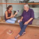 Paul Vincent discussing evolution of Auroville with Ira