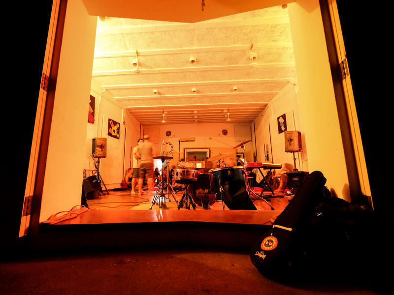 Photographer:Ake/AVArtservice | The Music Studio it was built in 2003 thanks to a donation of an Auroville's commercial unit.