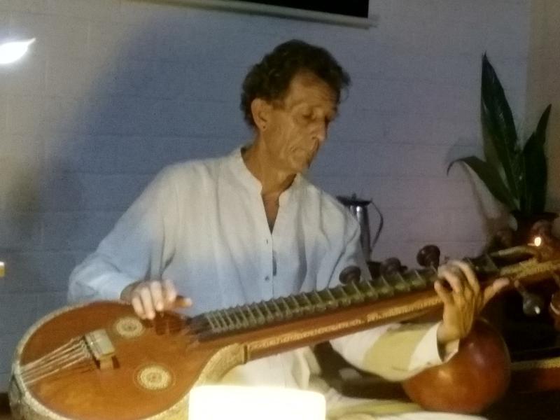 Photographer:Ray | Bruno playing the Carnatic Veena
