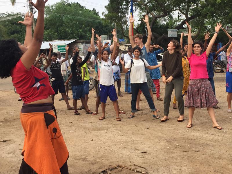 Photographer:Radio Team | Dance on Waka-Waka during the community event