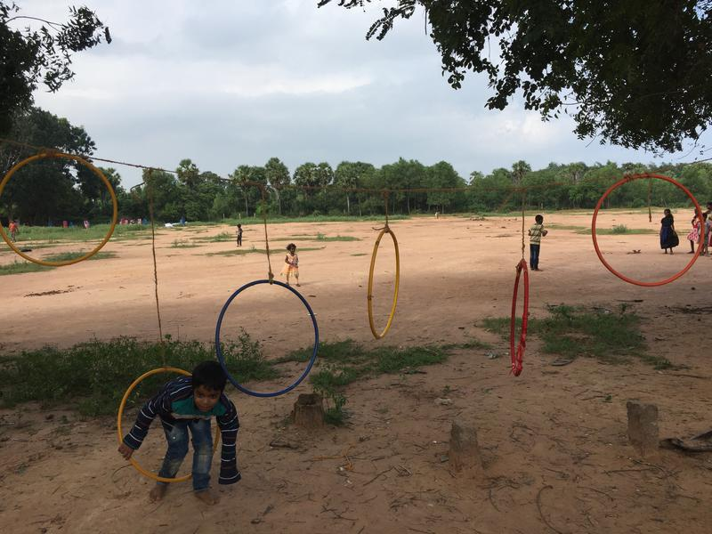 Photographer:Radio Team | Frisbee loops for the children's games