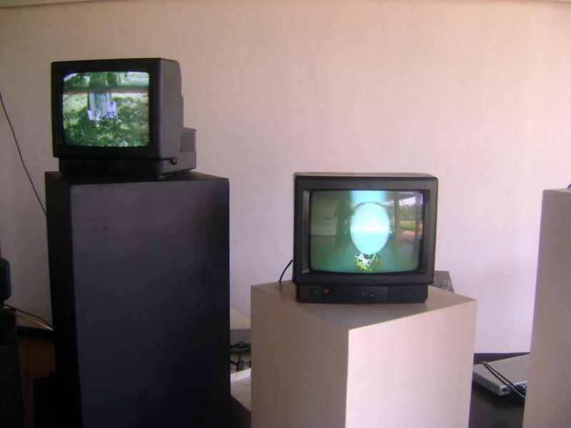 Photographer:Yasna | art installation of footage made over 5 decades of Auroville