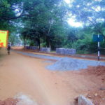 new paved road from Solar Ktichen to Kindergarden - progress