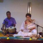 Manosh Bardhan and Damayanti Datta offering Tianjali