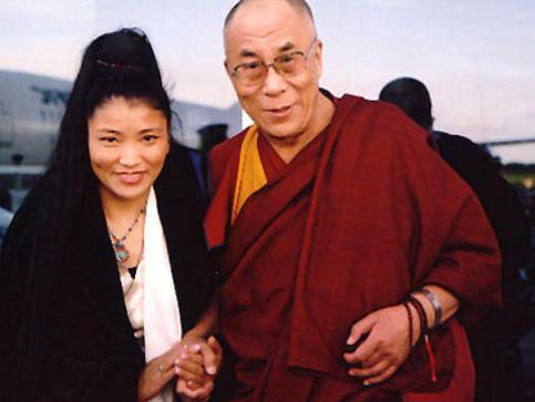 Photographer:web | Yungchen Lhamo  and H.H Dalai Lama