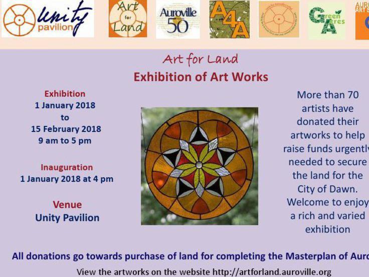 Photographer:web   Art for Land at Unity Pavilion