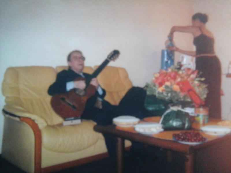 Photographer:Paulo | Joao Gilberto in his home
