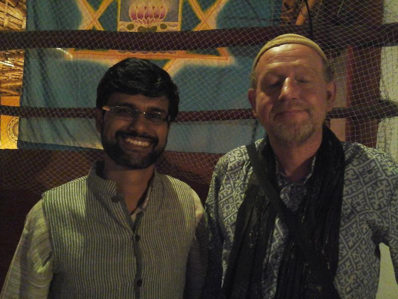 Photographer:Gino | Arnab and Kees after the audio interview
