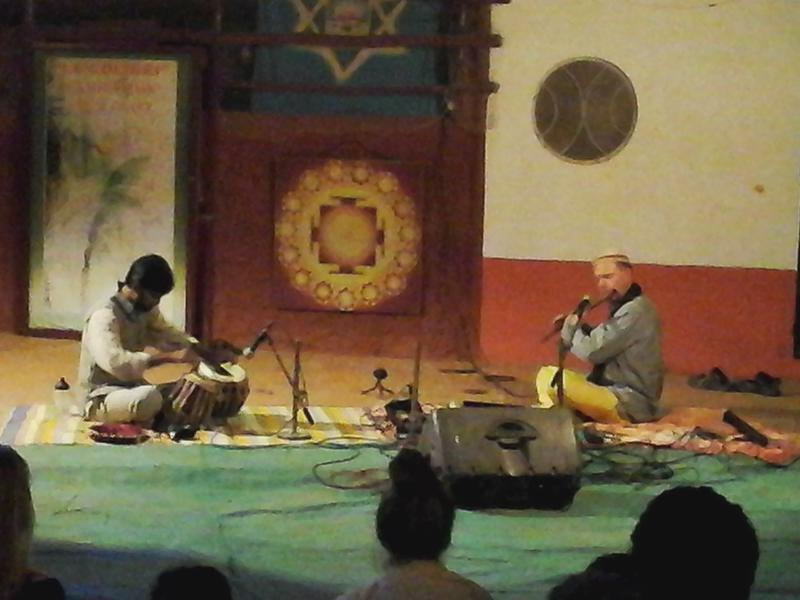 Photographer:Gino | Arnab on Tabla, and Kees on Bansuri bamboo flute