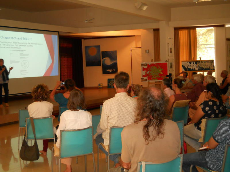 Photographer:Gino | The presentation included the topic of Production and Consumption
