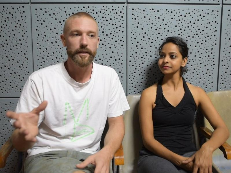 Photographer:Desmond   From left: Romain Timmers and Sharanya Rao
