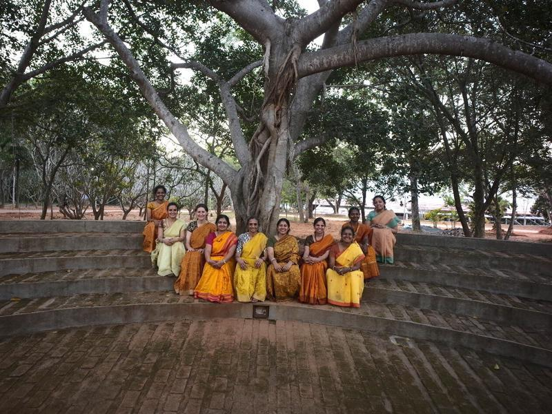 Photographer:Satyajit C P | The ten teachers of Yogavahini School, Chennai