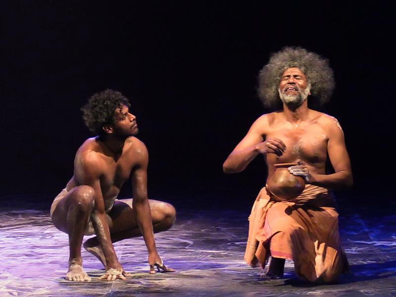 Photographer:Stefano | Thierry Moucazambo (Right) at the  Sri Aurobindo Auditorium.