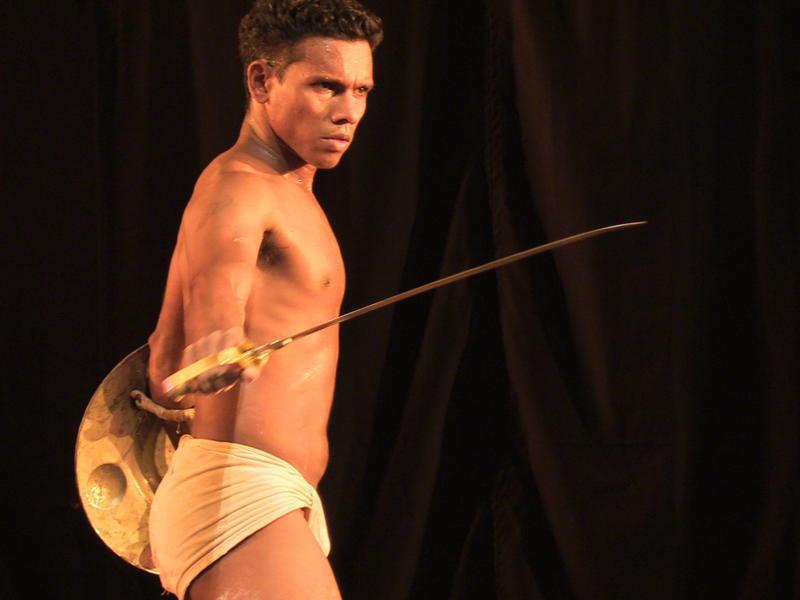 Photographer:Stefano | Contemporary performance at the Sri Aurobindo Auditorium called 'Khalipalattu.'