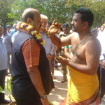 <b>Dr. Sarat Kumar Acharya inaugrates new paver road Auroville Visitors Centre</b>