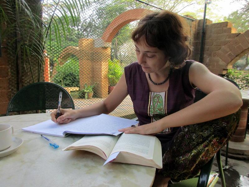 Photographer:Barbara | Francesca writting