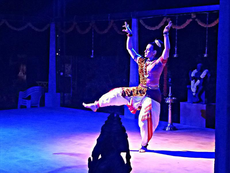 Photographer:S. Praneeth Simon | Carolina Prada performing Mayurbhanj Chhau at Kalarigram here in Auroville.