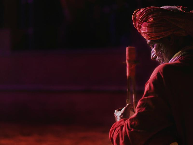 Photographer:Arvind Dev | Baul Singers performing live at the Tantrosav 2018 here in Auroville.