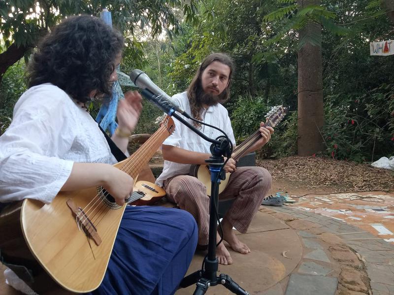 Photographer:S. Praneeth Simon | Vocalist and guitarist Carla playing along with Calimo.