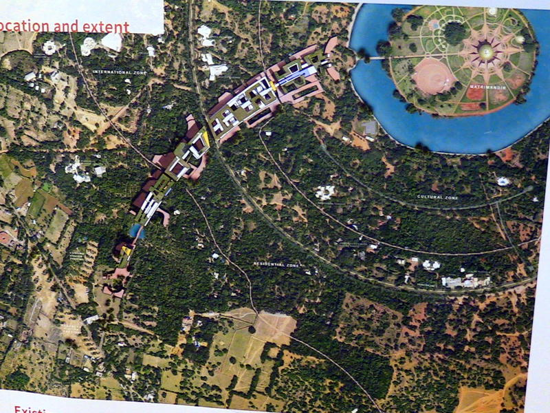 Photographer:S. Praneeth Simon | The image shows the architectural plan for Auroville