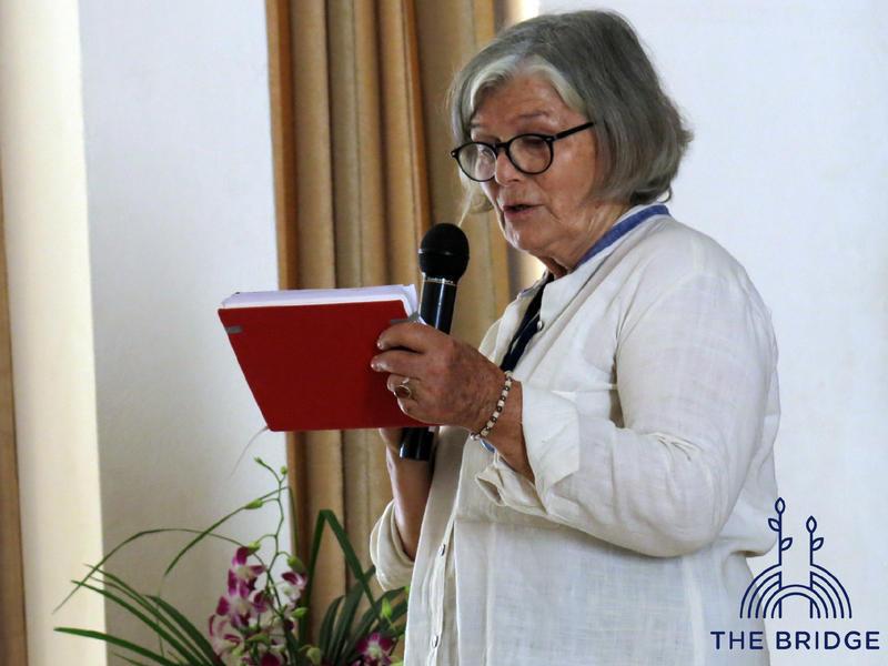 Photographer:Cassandra | Ann Riquier opening the event (Unity Pavillion)