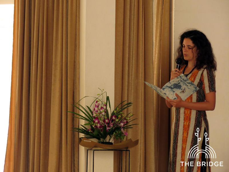 Photographer:Cassandra | Aditi Rosegger introducing The Bridge (Unity Pavillion)