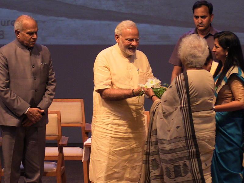 Photographer:S. Praneeth Simon | Aster Patel welcoming the Prime Minister Narendra Modi.